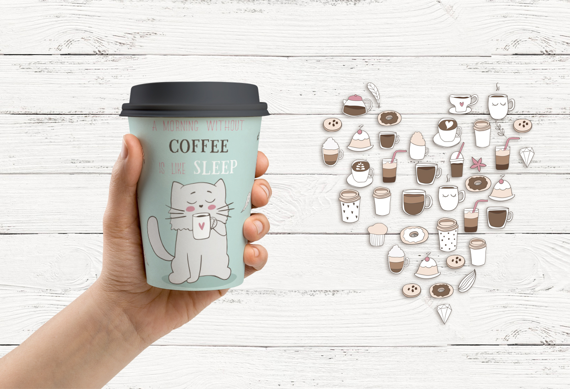Cute coffee clipart example image 6