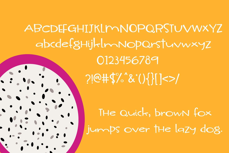 Dragon Fruit Handwritten Font example image 2