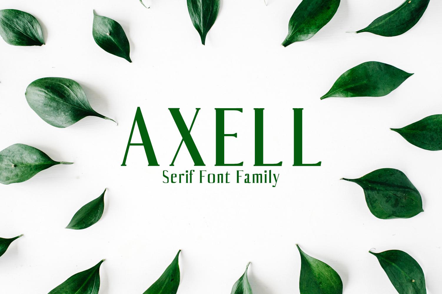 Axell Serif Font Family example image 1