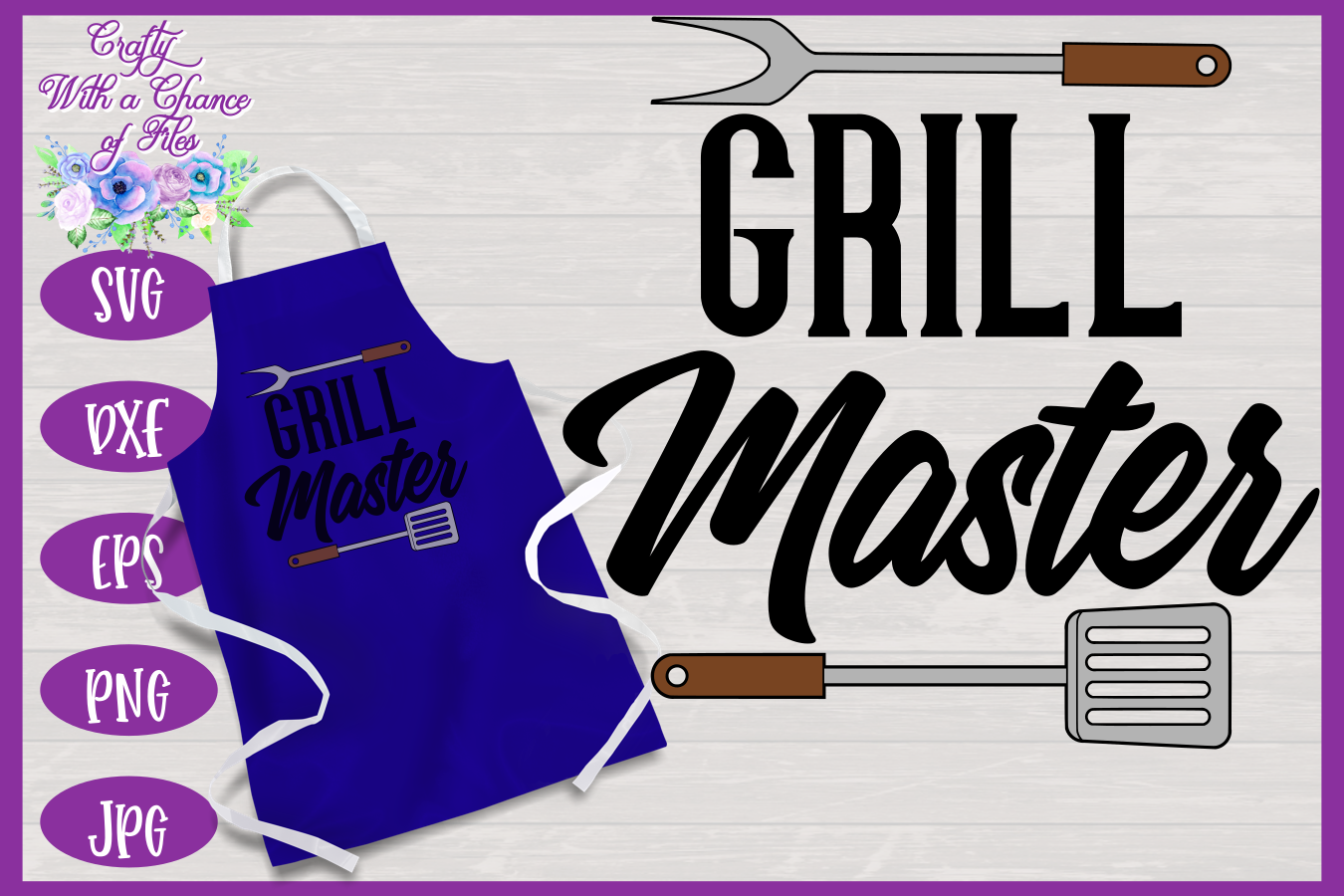 Grill Master SVG | Father's Day BBQ Grill Apron example image 1