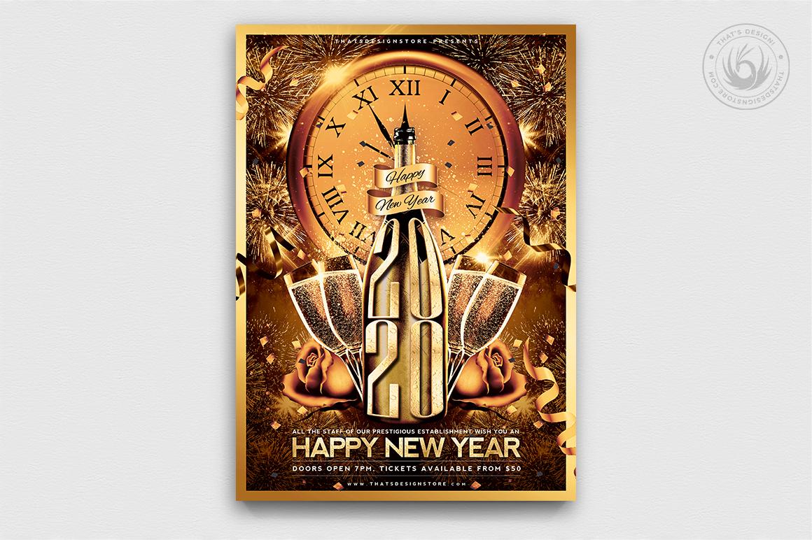 10 New Year Flyer Bundle example image 2