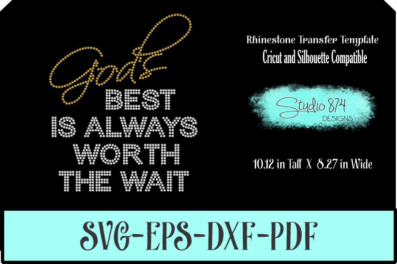 Faith Religious Rhinestone SVG Template - Gods Best example image 1