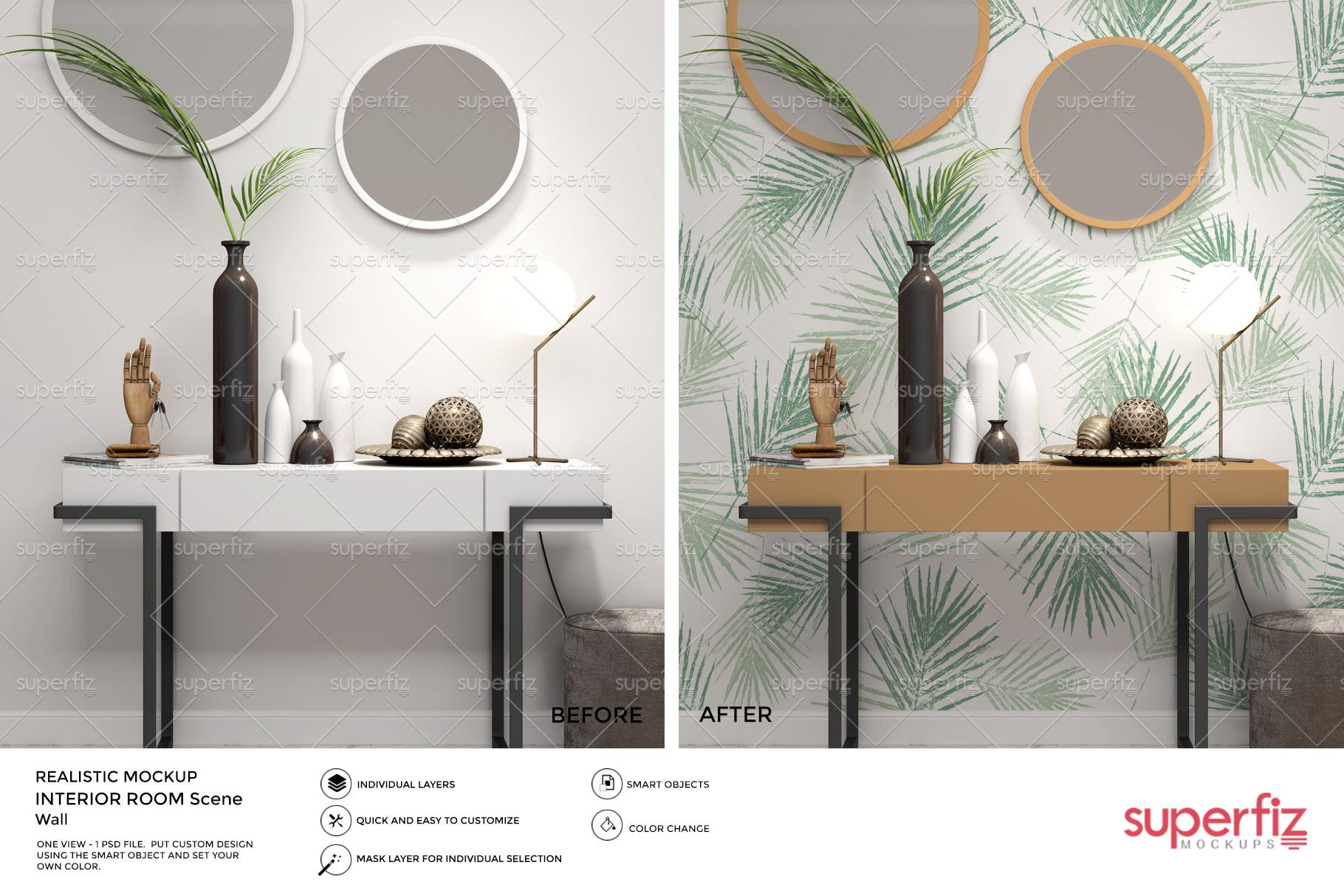 Wallpaper Mockup Bundle Vol.2 - SM98PACK - 5PSD SCENE example image 5