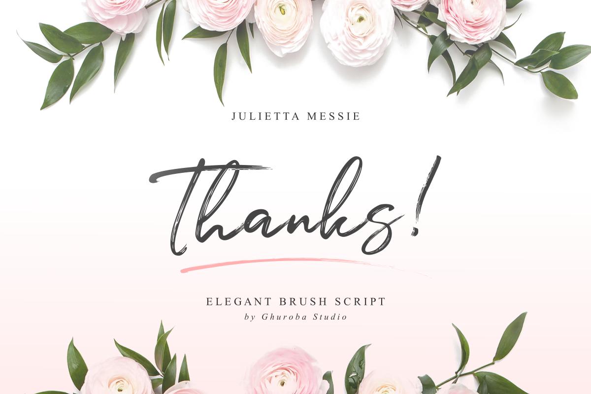Julietta Messie | Brush Script example image 13