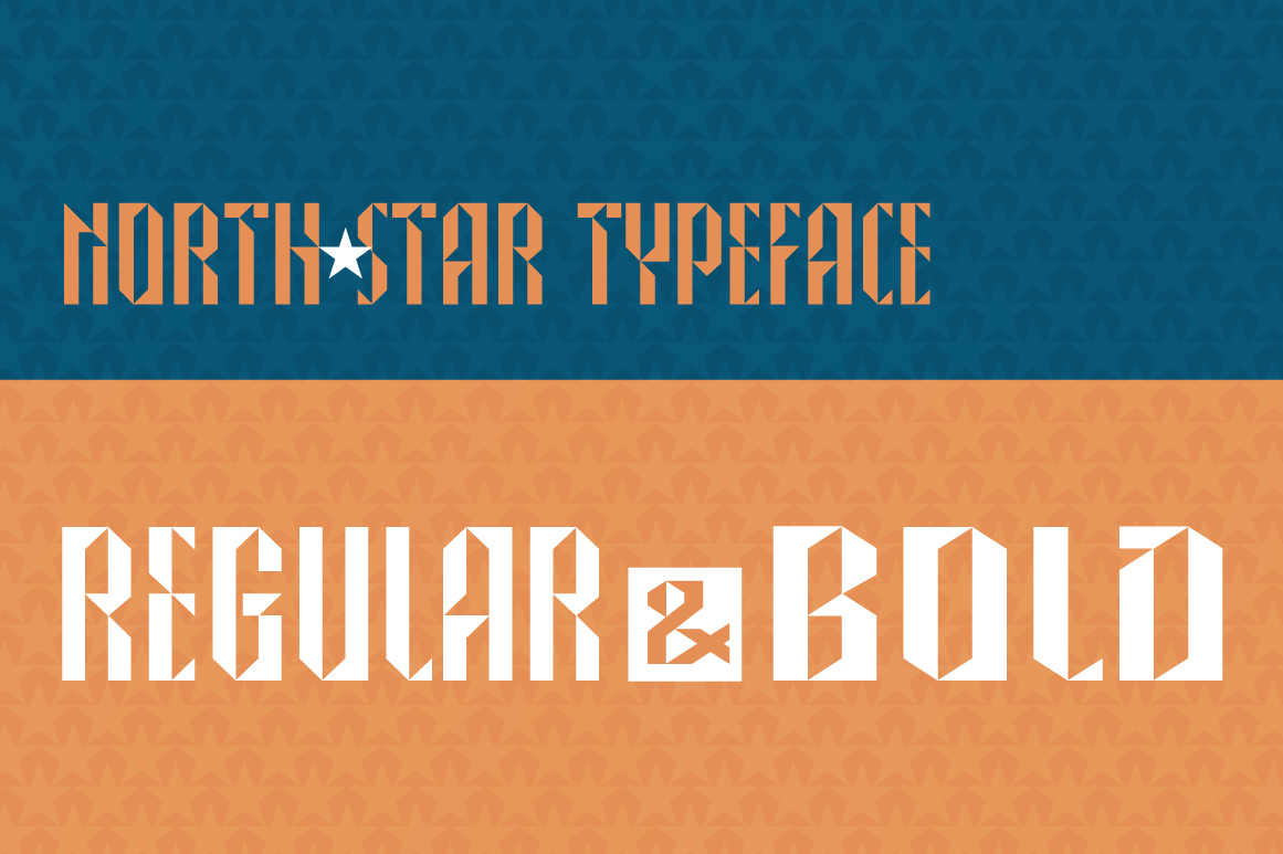 NORTH STAR typeface example image 5
