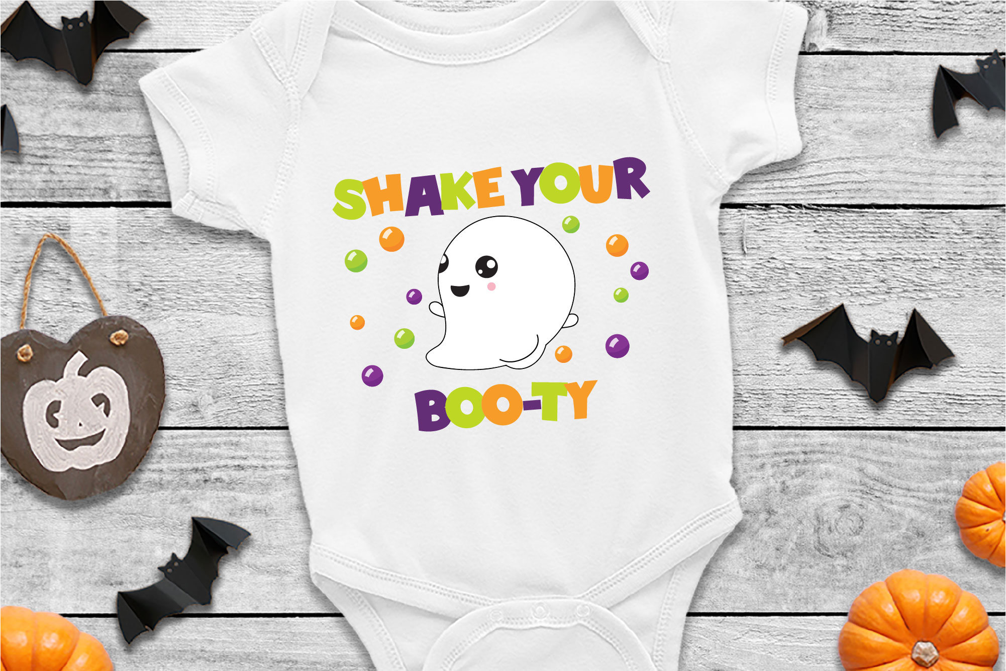 Shake Your Booty SVG Sublimation, Halloween Ghost SVG example image 1