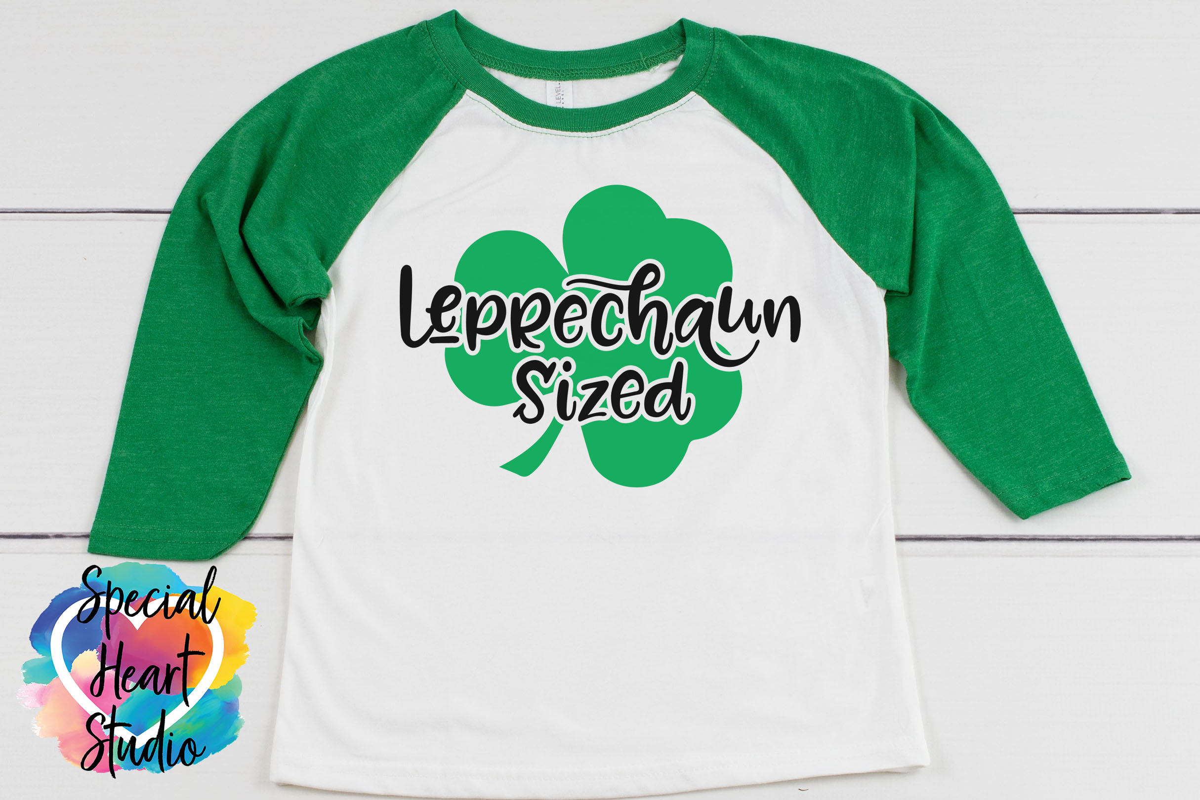Leprechaun Sized SVG - A fun St. Patricks Day cut file example image 2