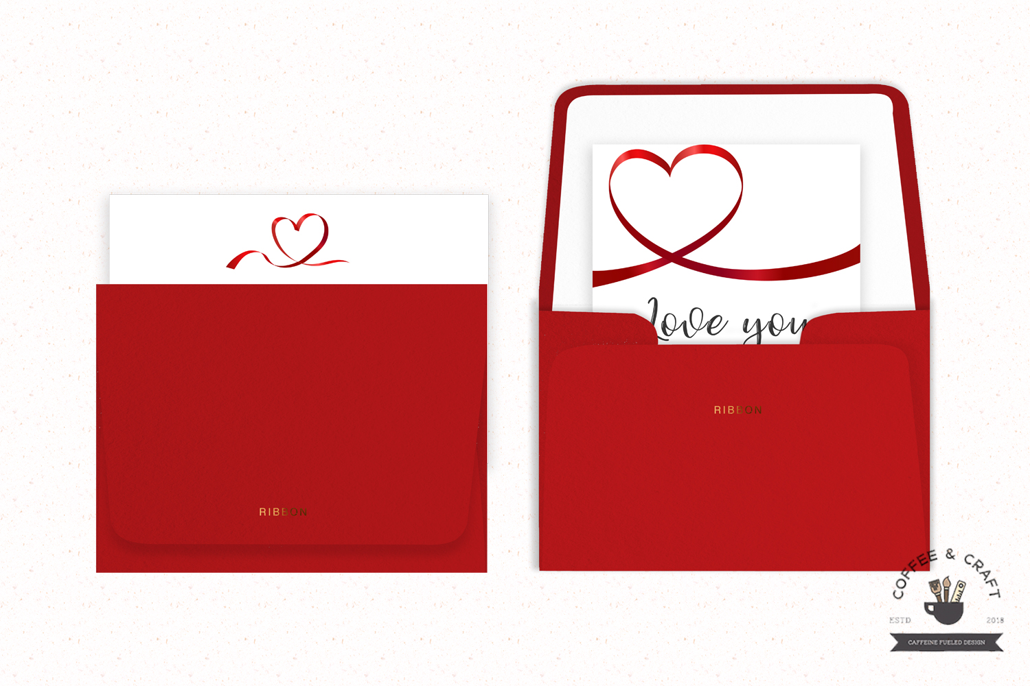 Heart ribbons example image 4