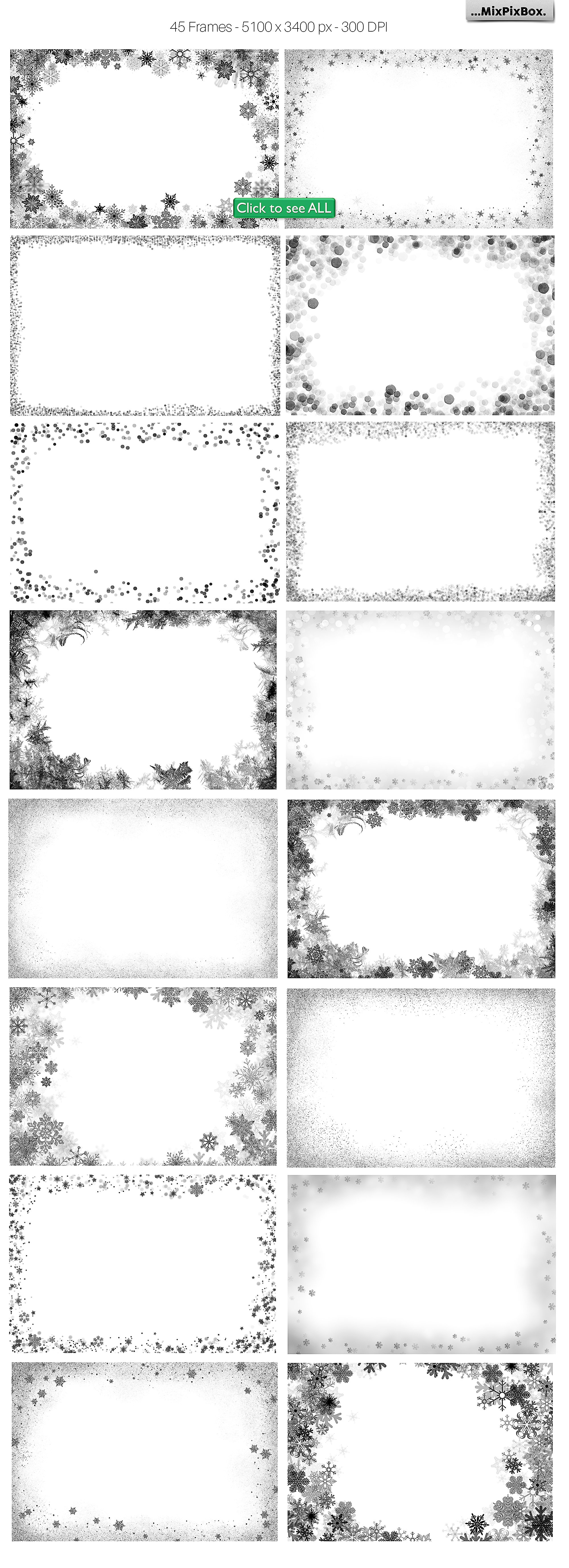 Winter Frames - Black Edition example image 4