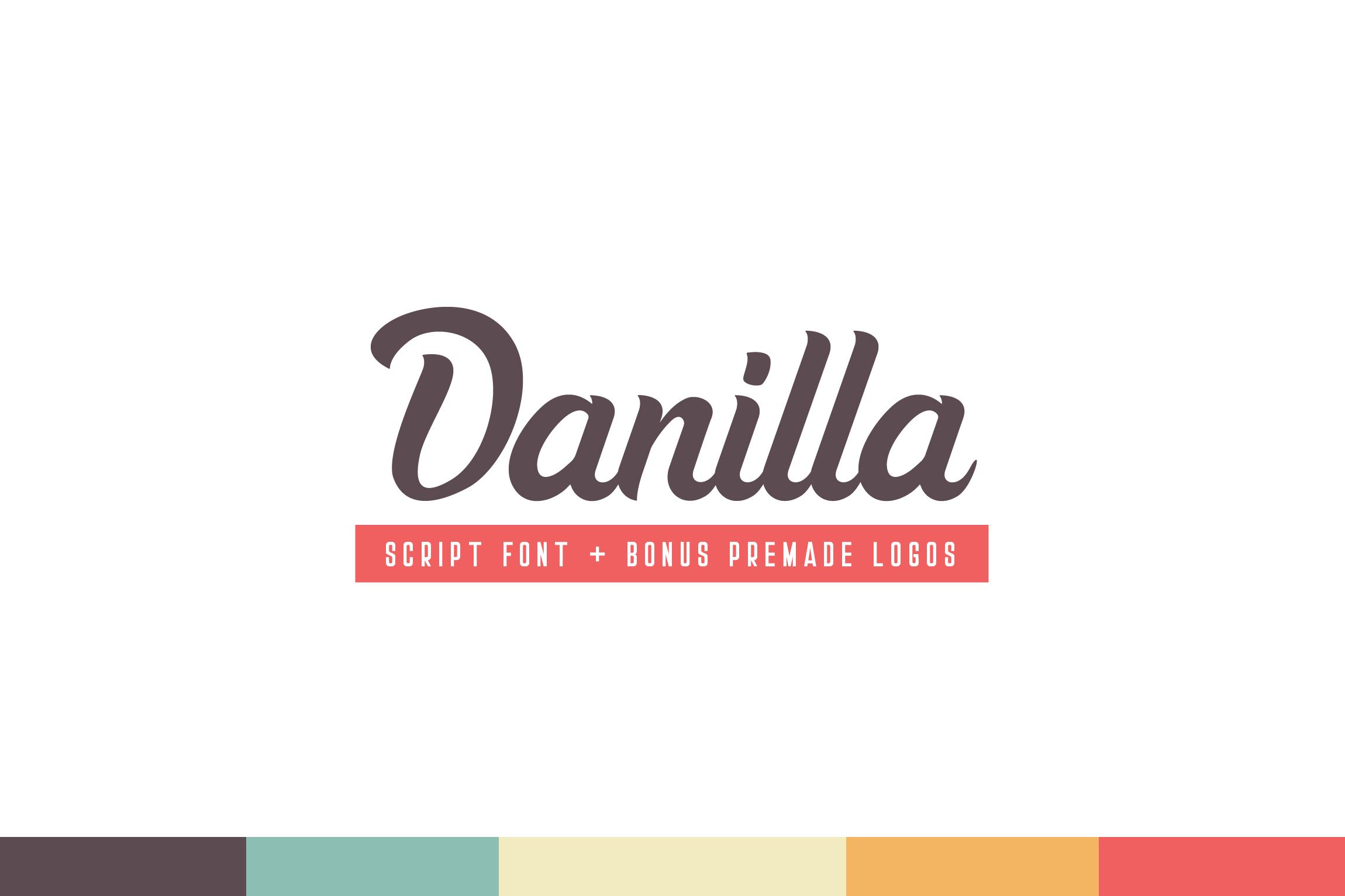 Danilla Font + Premade Logos example image 6