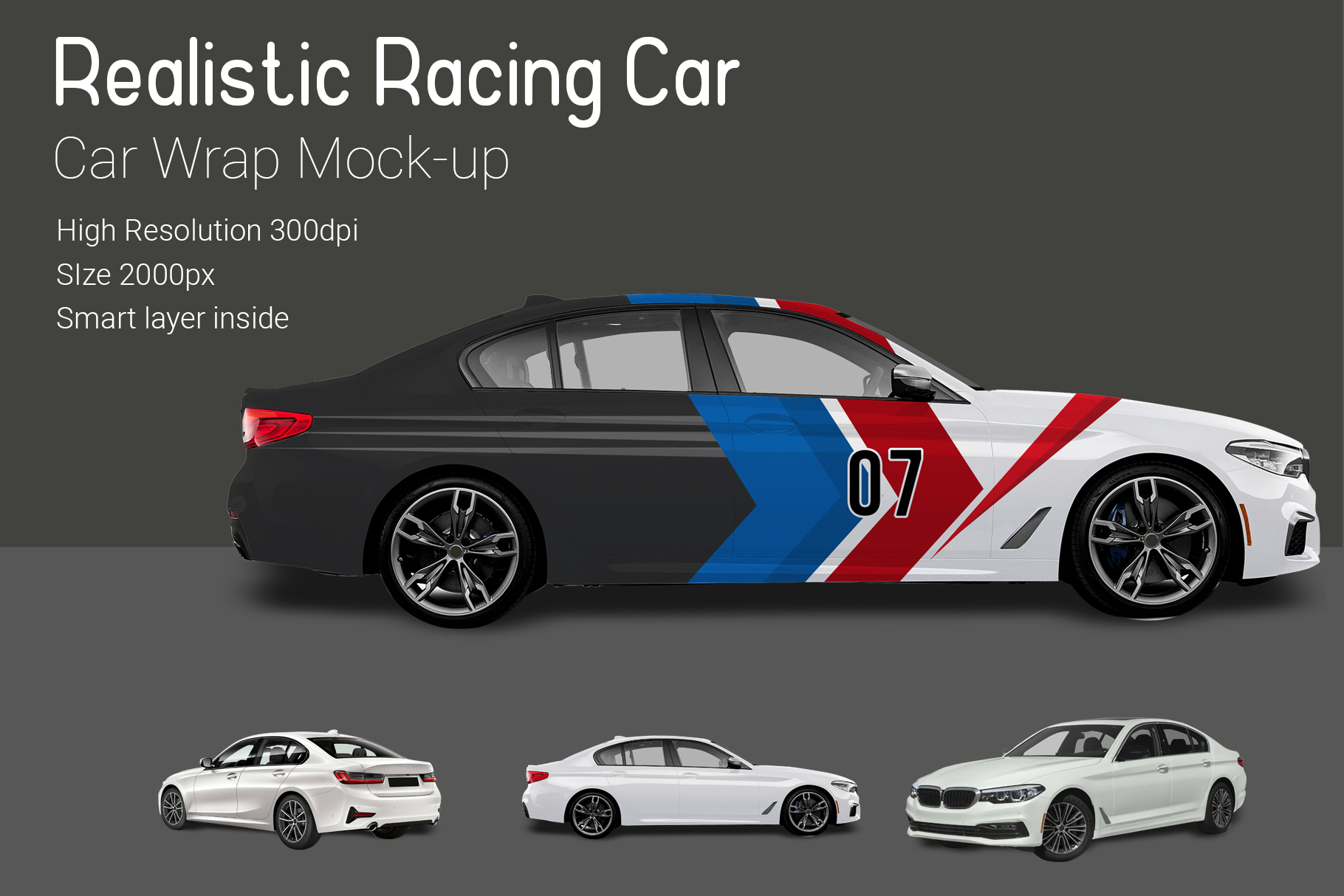 Racing Car Mock-Up example image 3