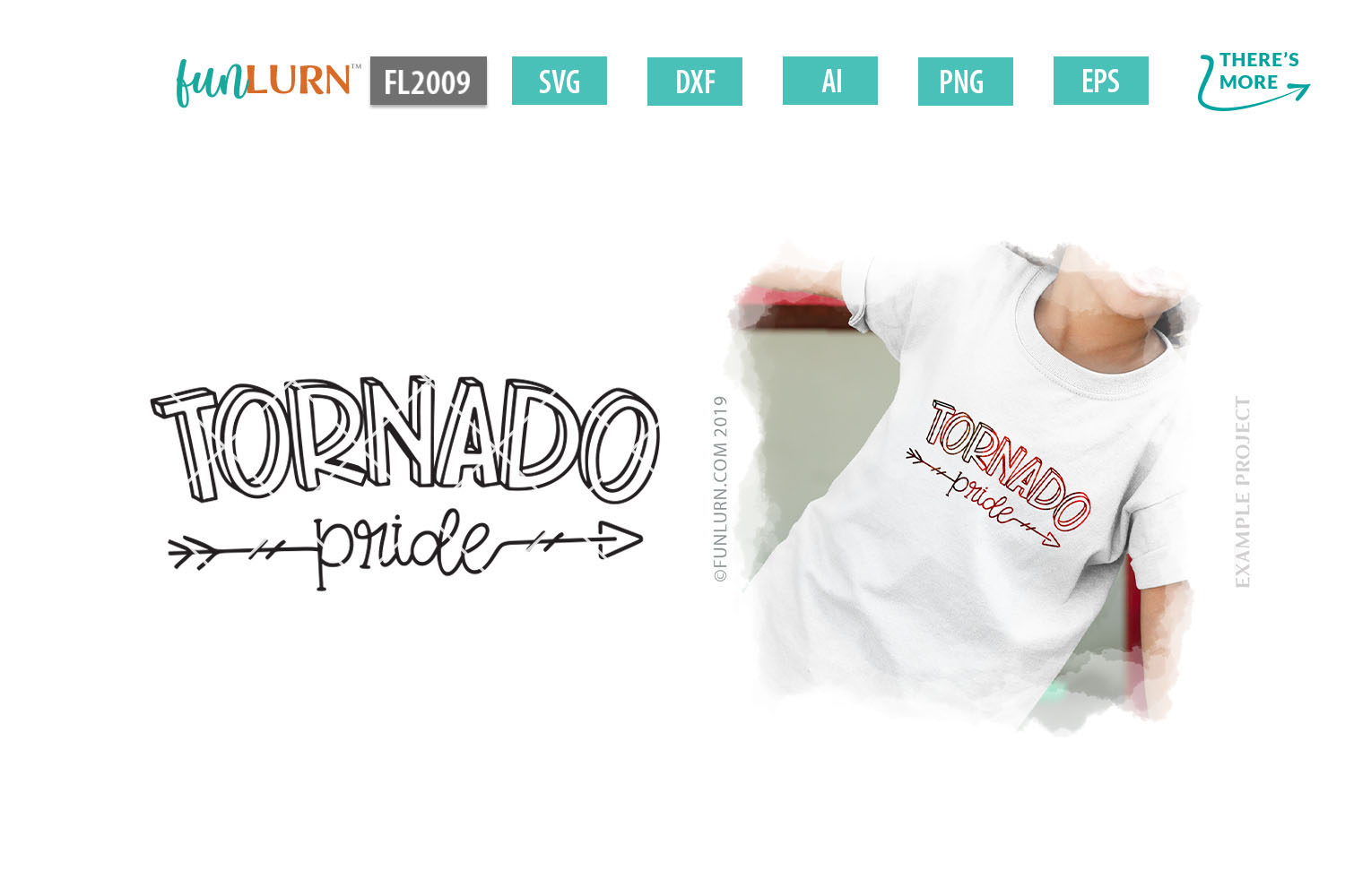 Tornado Pride Team SVG Cut File example image 1