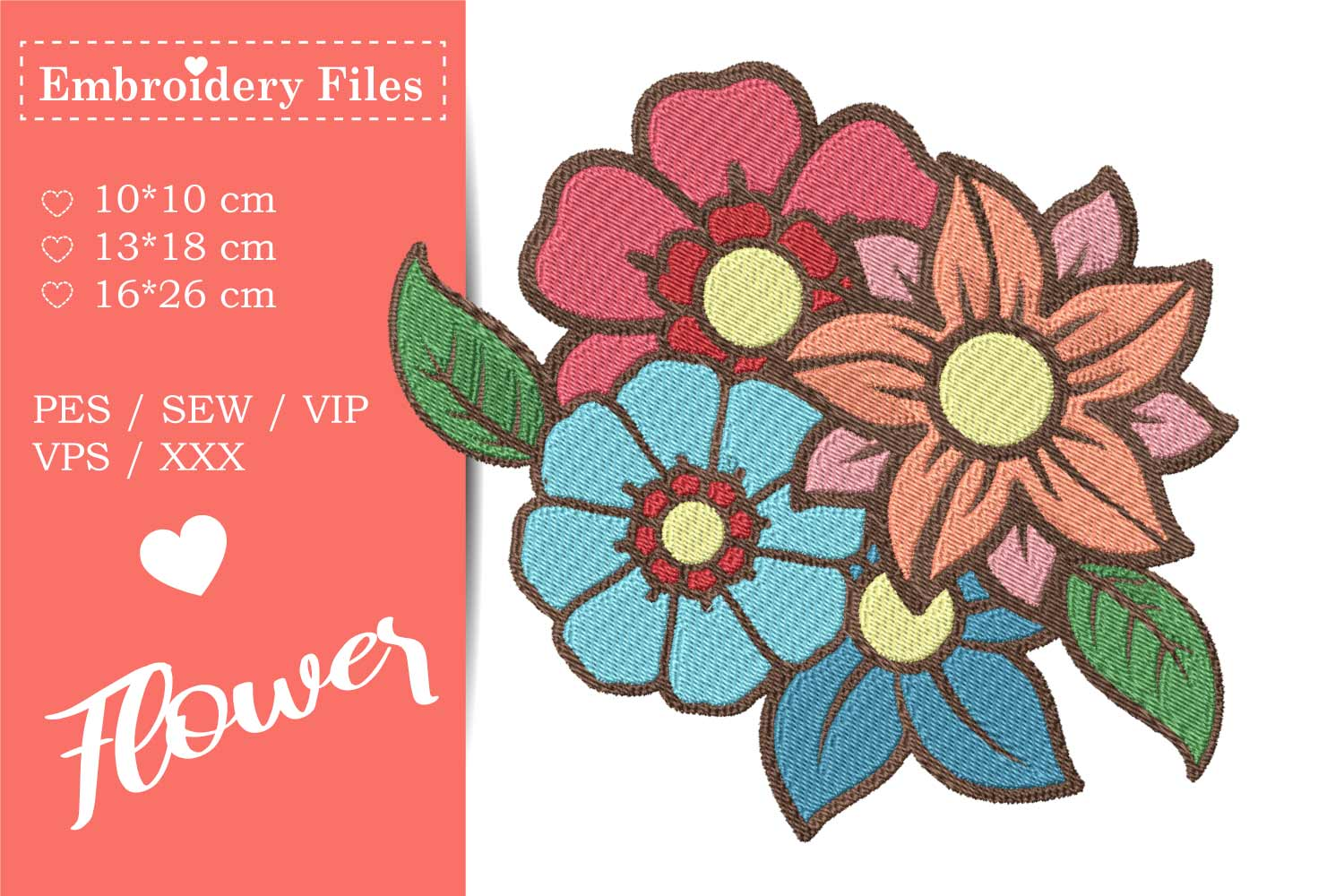 Flower Bouquet - Embroidery File example image 2
