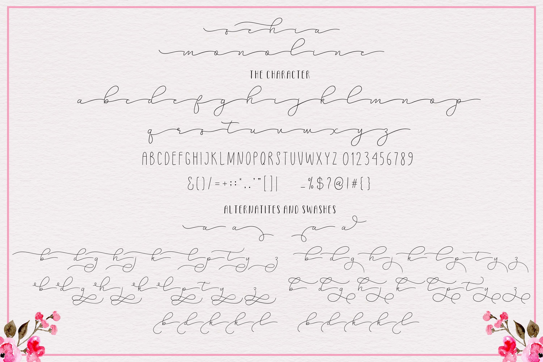 Sehia Script Calligraphy & Monoline example image 10