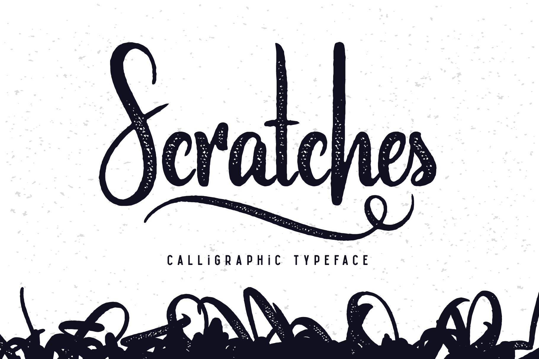 Scratches calligraphic font example image 1
