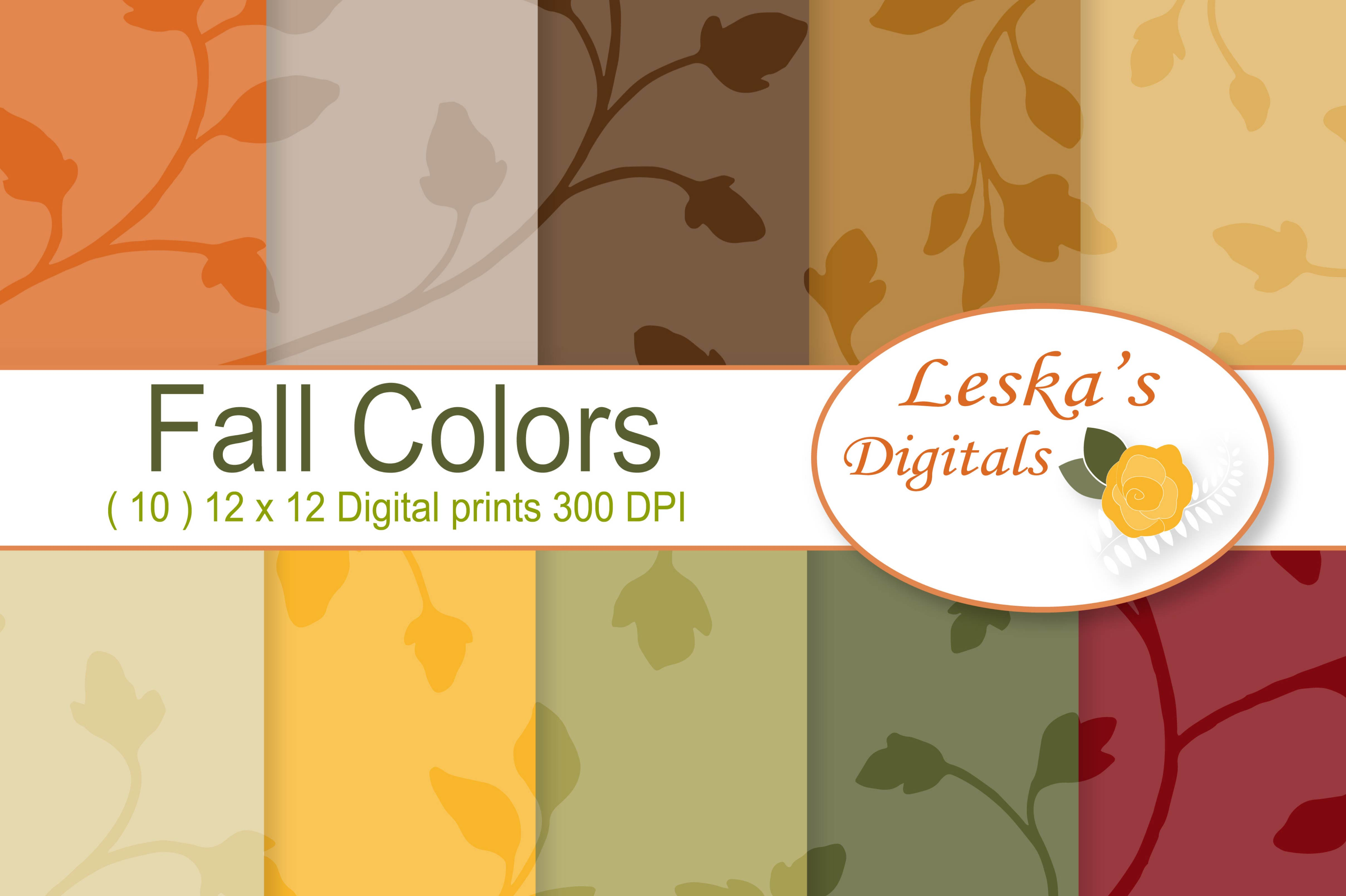 Seamless Patterns - Fall Colors example image 1