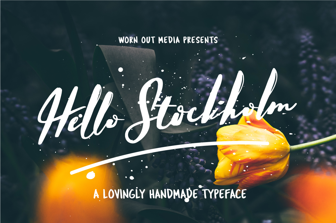 Hello Stockholm - Handmade Typeface example image 1