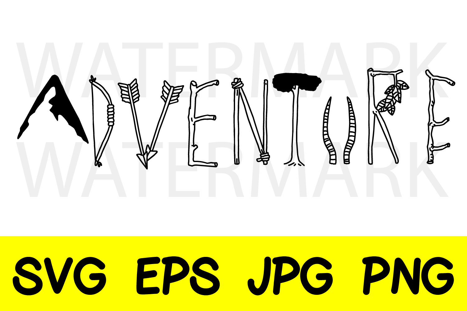Adventure with various material - SVG-EPS-JPG-PNG example image 1