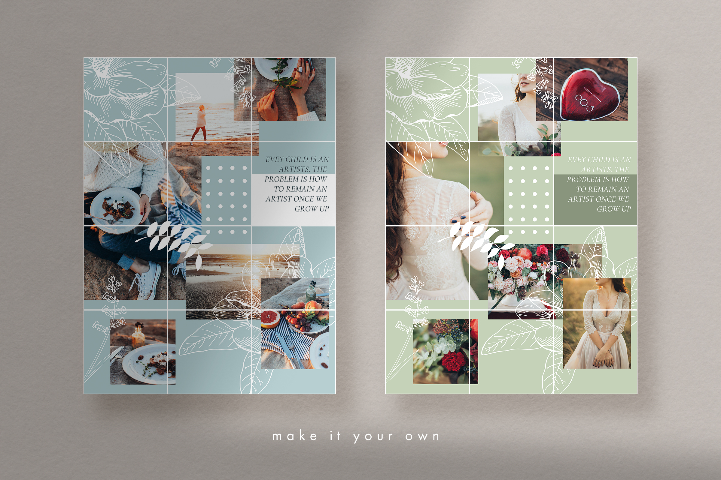 Instagram puzzle template for Canva example image 7
