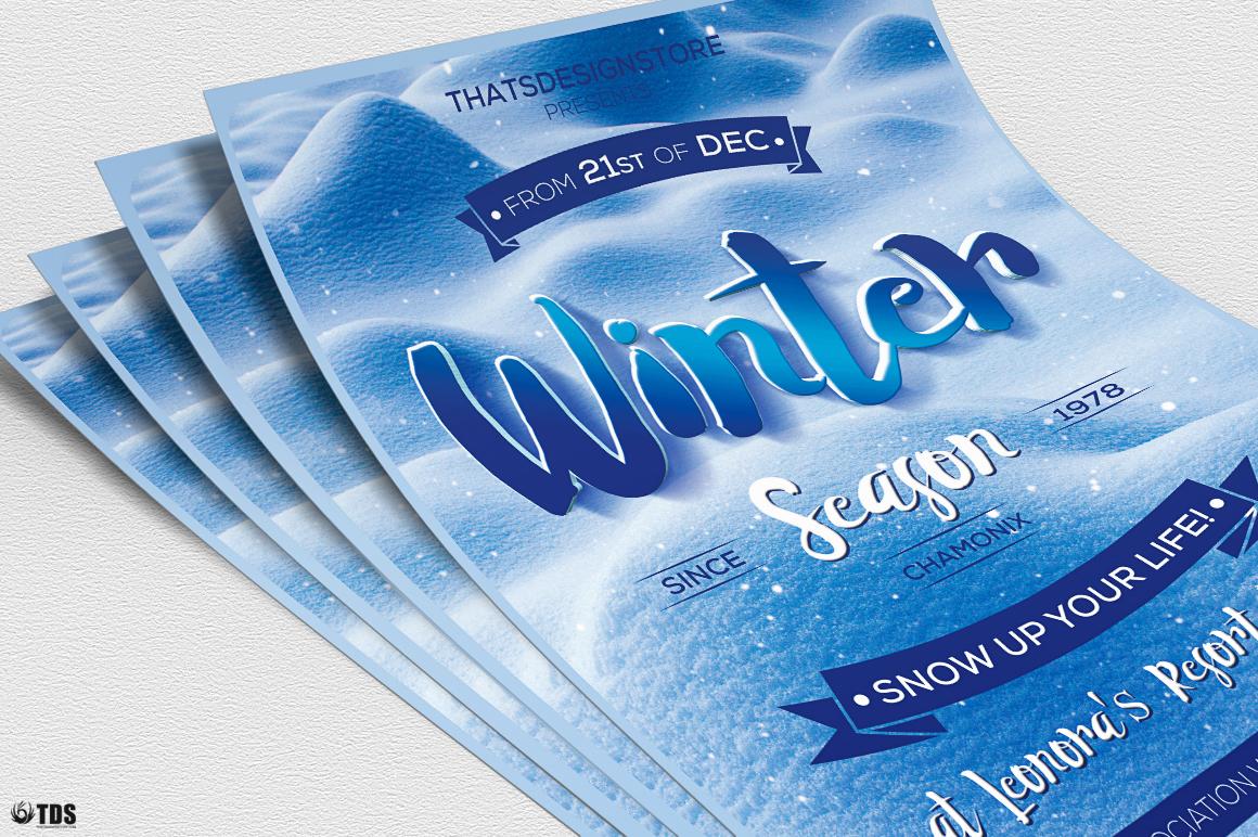 Winter Season Flyer Template V4 example image 5