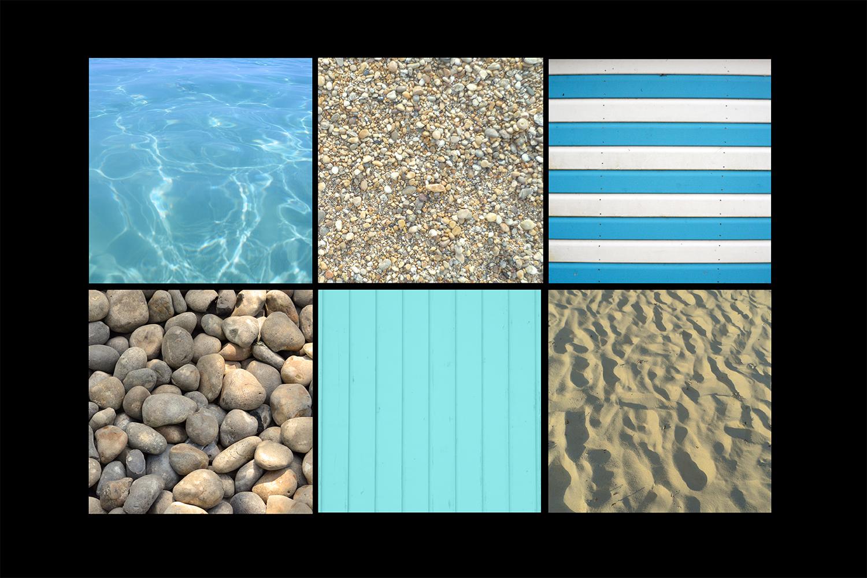 Wooden Beach Hut Stripes Sand Pebbles Water Textures Bundle example image 2