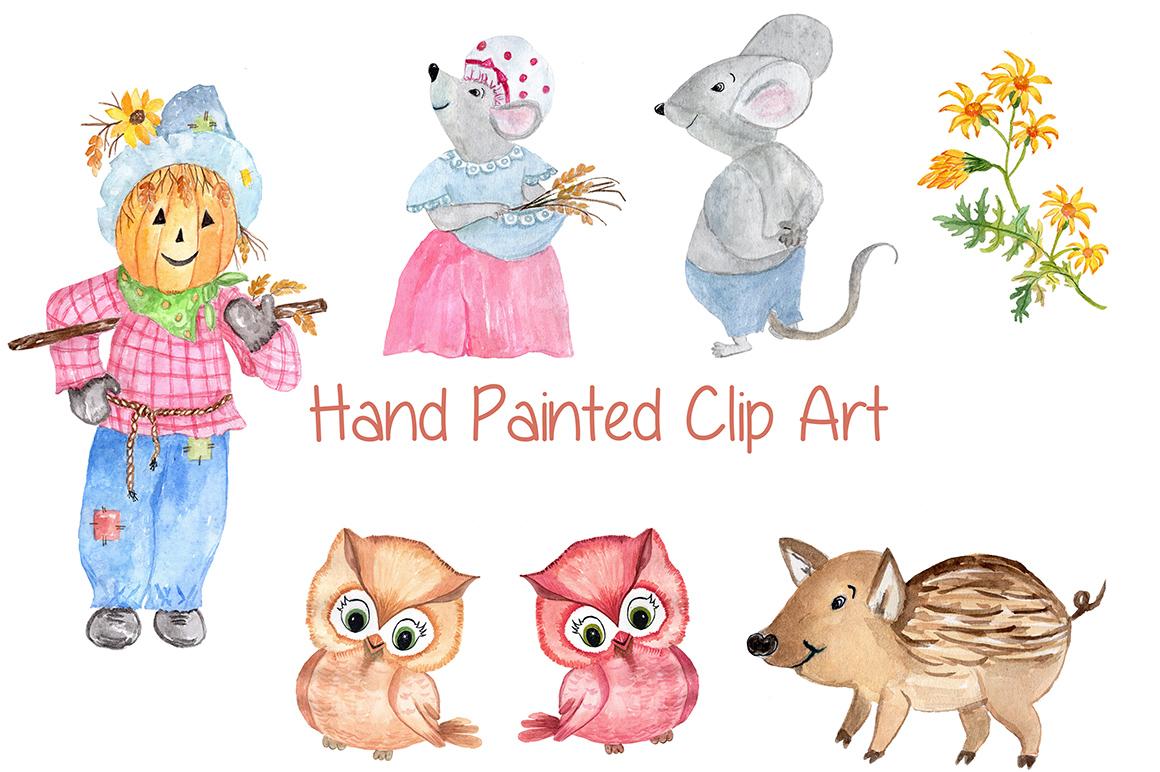 Watercolor pumpkin clipart example image 4