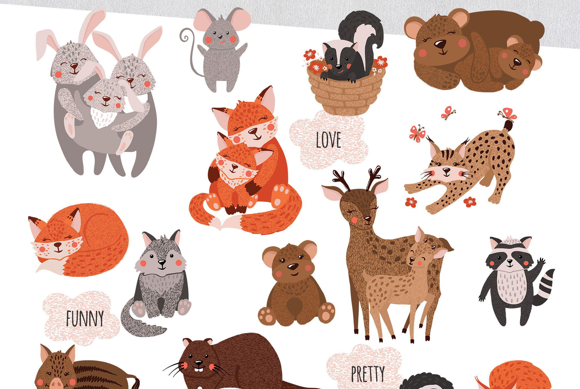 Cute Forest Animals Collection example image 8