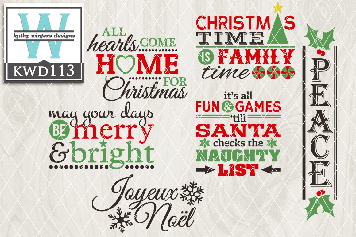 Christmas Cutting Files KWD113 example image 1