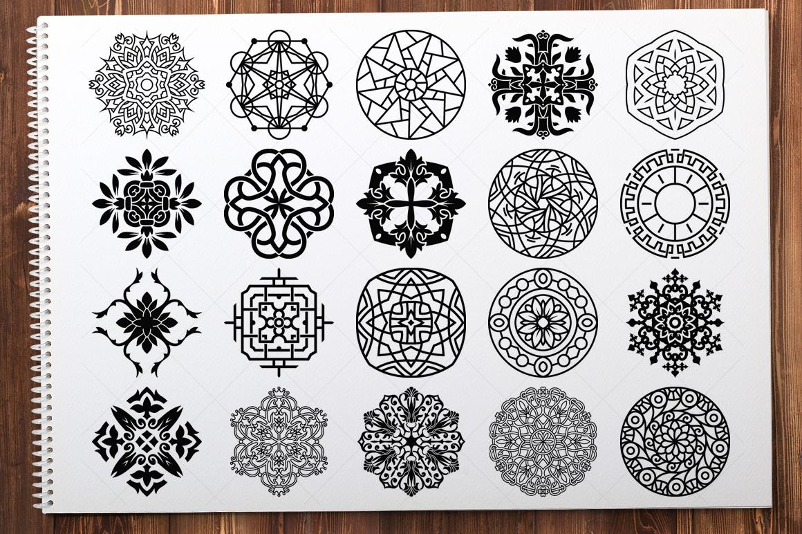 500 Vector Mandala Ornaments example image 5
