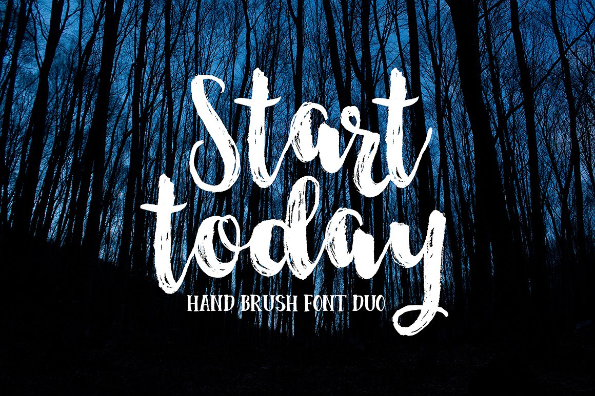 Start Today - Brush Font Duo example image 7