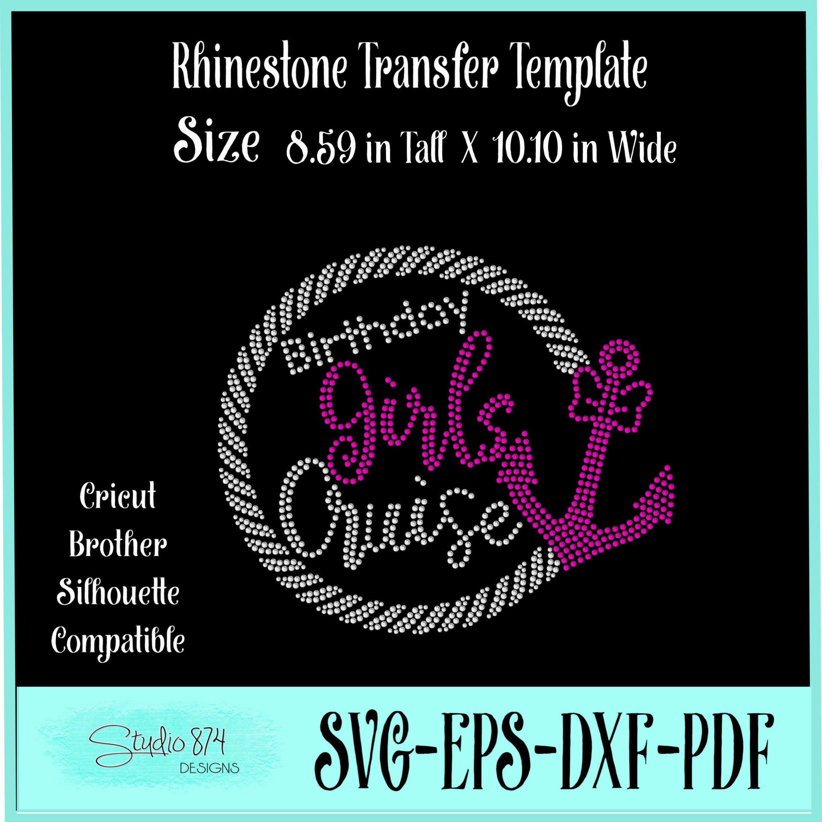 Birthday Girls Cruise - Rhinestone SVG Template example image 2
