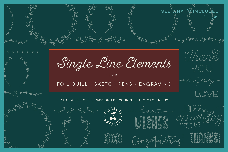 Foil Quill | Single Line | Sketch | SVG design elements example image 1