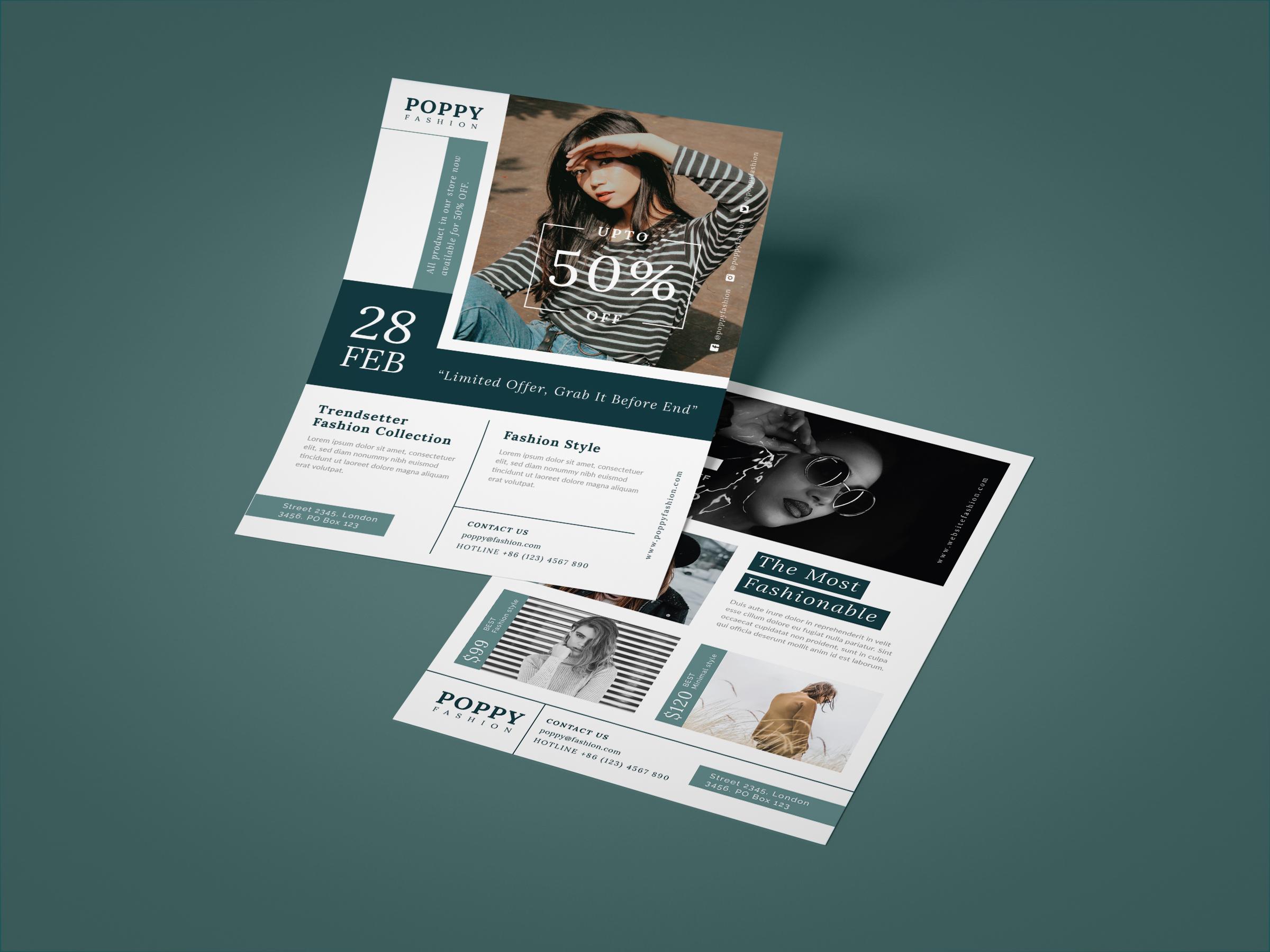 Poppy - Fashion flyer example image 3