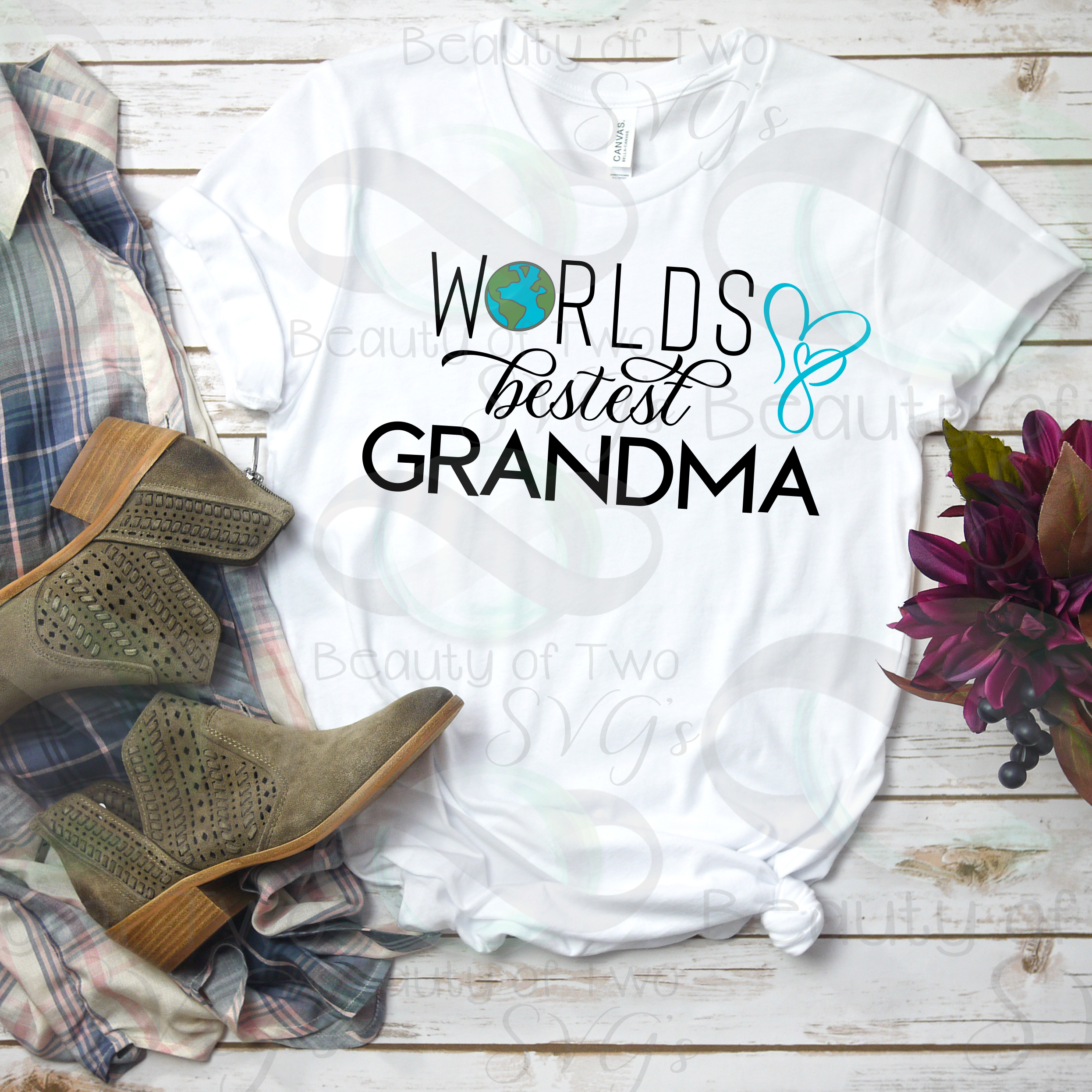 Mothers Day svg & png, Best Grandma svg, Grandmother svg example image 4