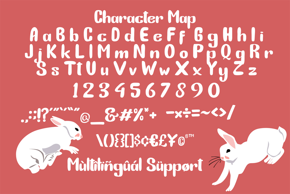 Bunny Funny | Playfull Font example image 4