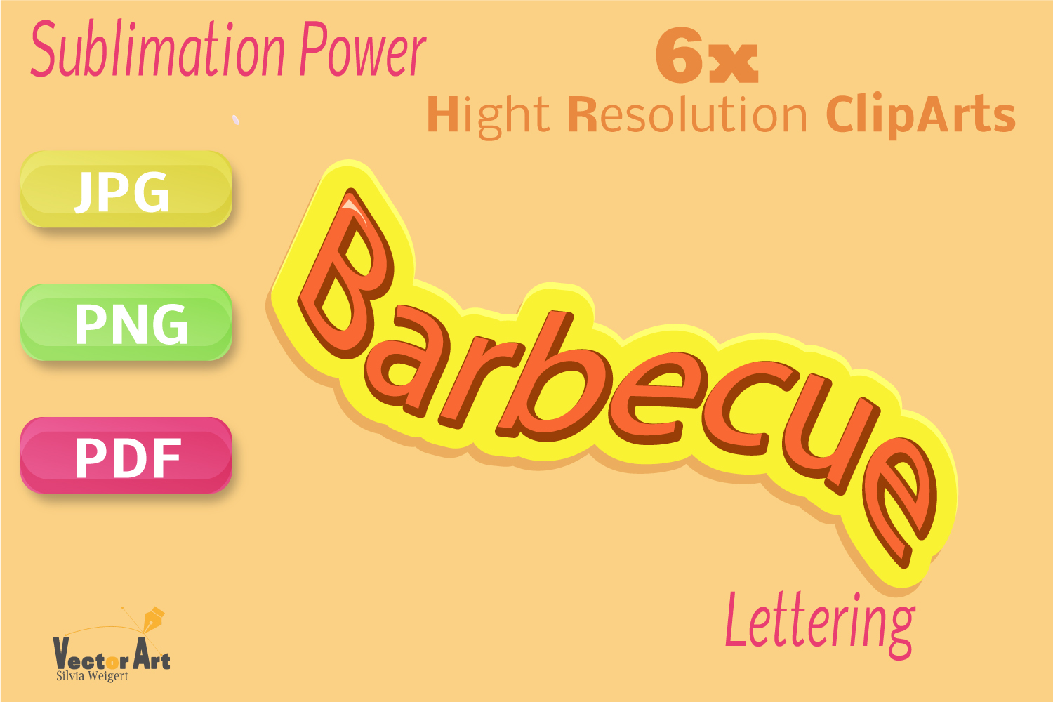 Barbecue - Craft Bundle for Sublimation and Scrapbooking example image 7