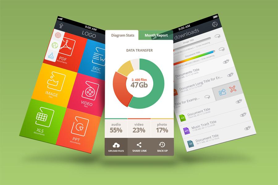 Mobile App Mock-Ups example image 1