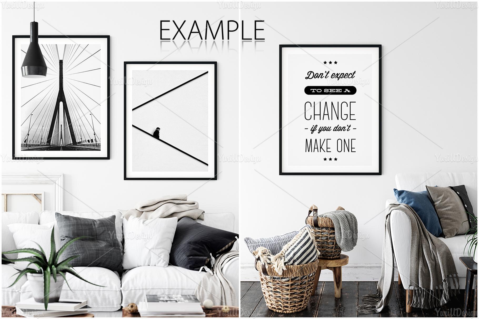 Scandinavian Interior Frames & Walls Mockup Bundle - 3 example image 9