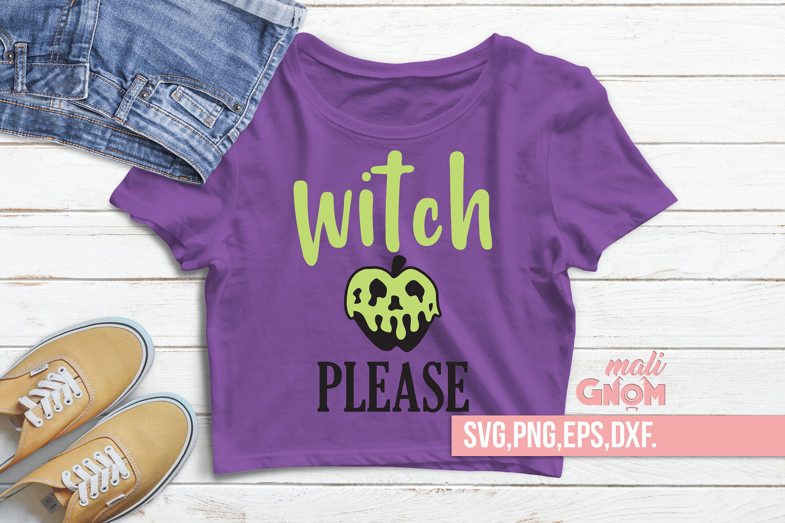 Witch Please SVG, Halloween SVG file, Trick or Treat Bag SVG example image 2