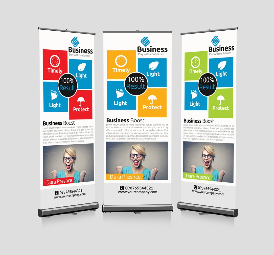 Business Advertisment Roll Up Banners example image 1