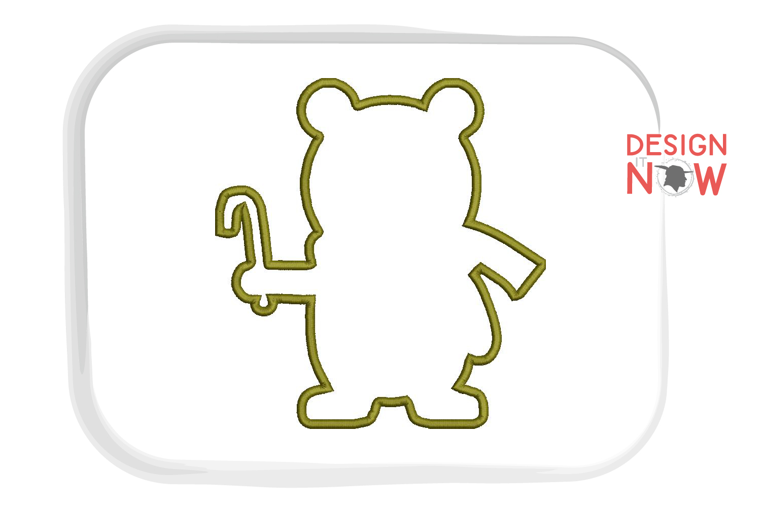 Holiday Bear Applique Design, Christmas Embroidery Pattern example image 3