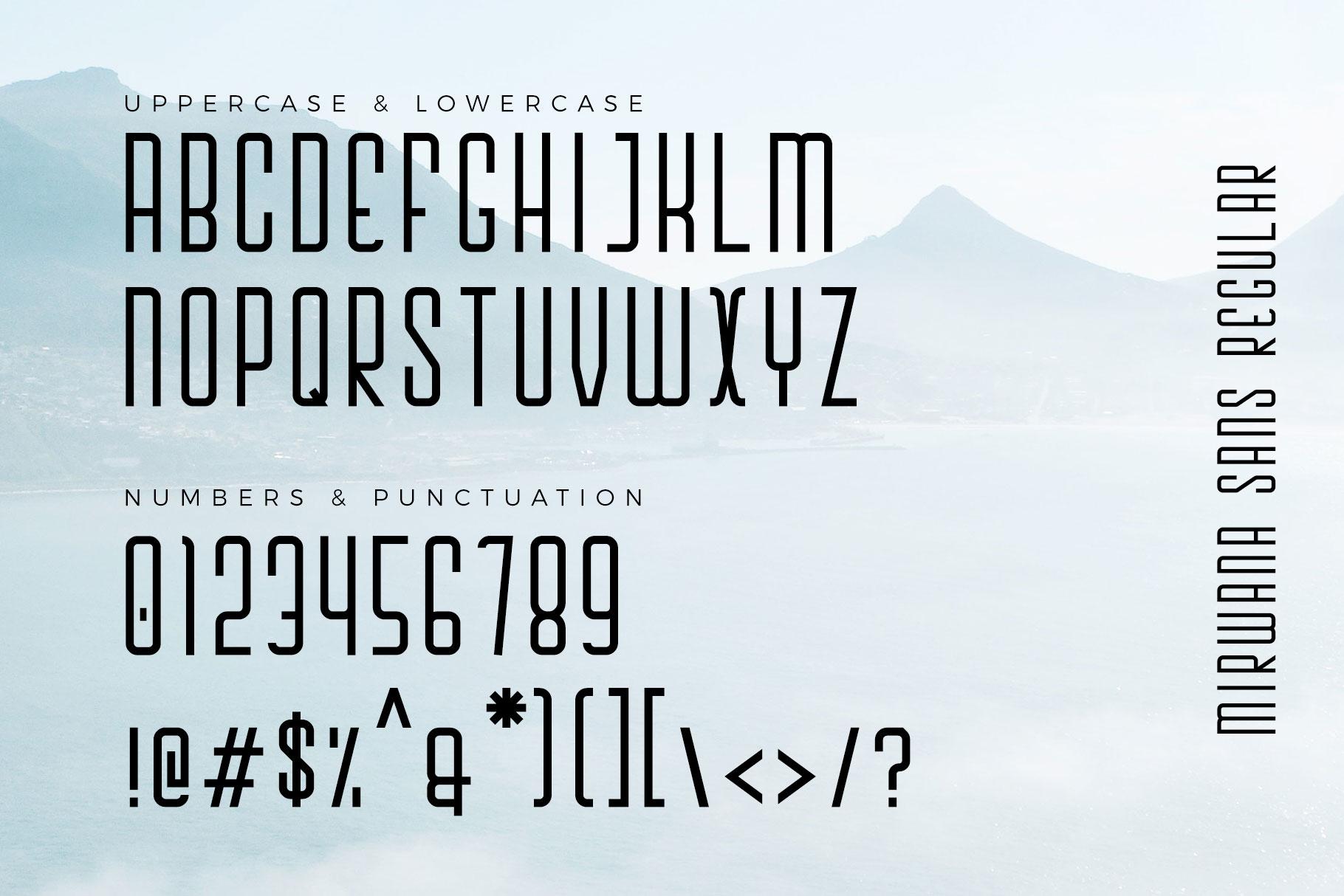 Mirwana Font Duo example image 8