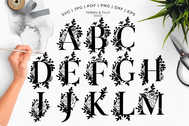 MEGA BUNDLE! 6 x Alphabet Cut Files - SVG | Papercut example image 3