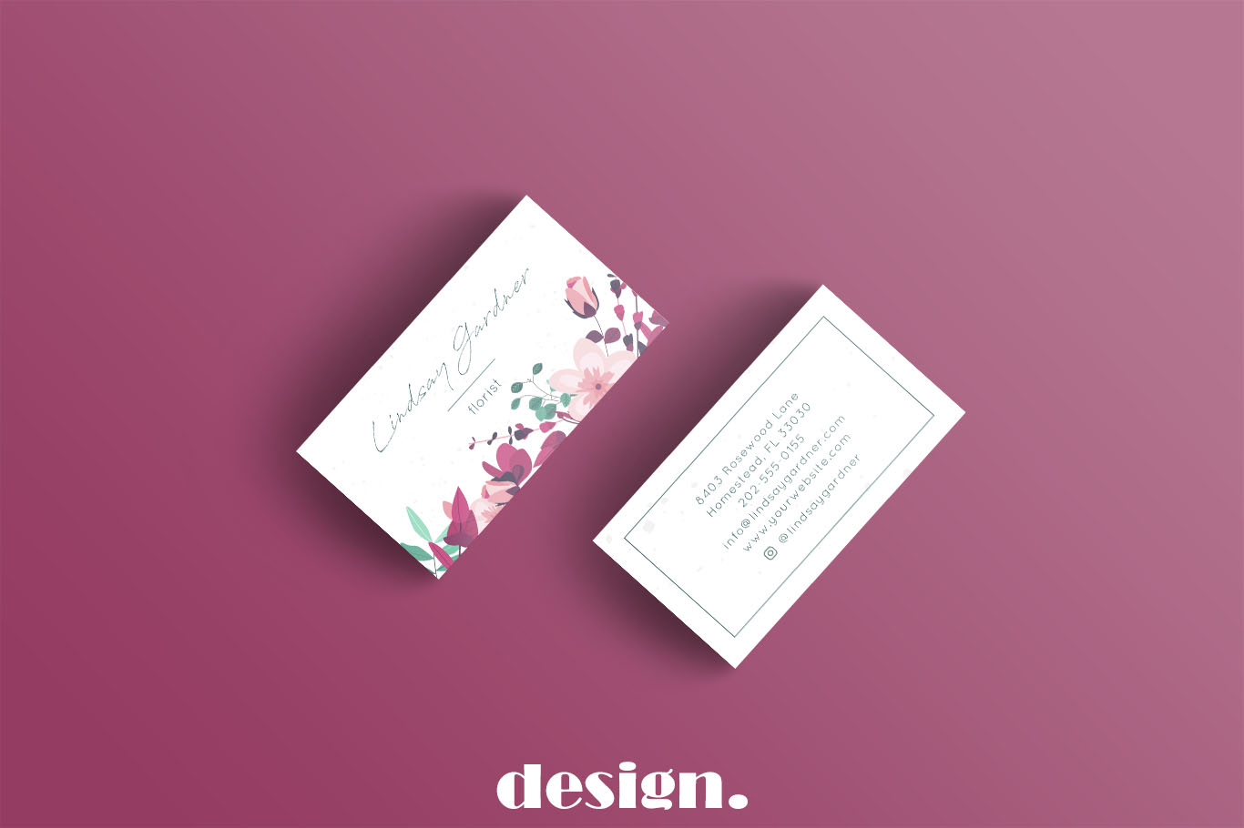 Floral Business Card example image 3