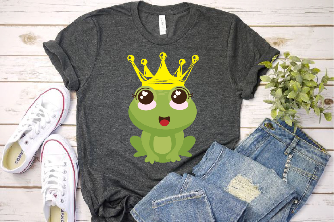 Frog Prince Charming SVG Crown Fairy Tale 1267S example image 1