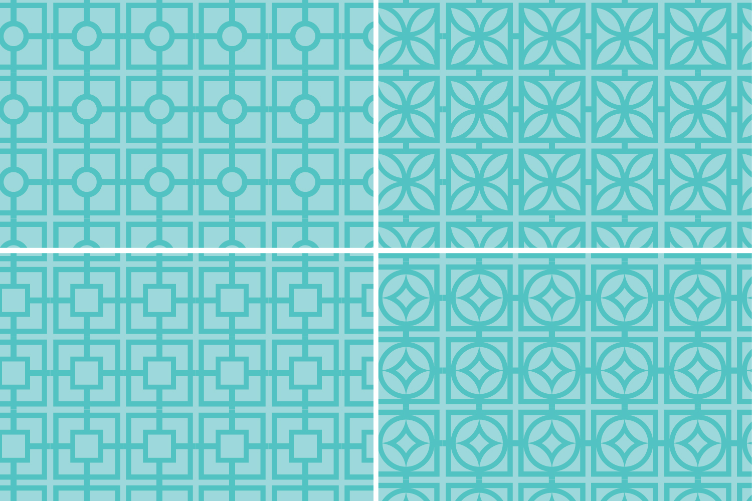 Turquoise Retro Breeze Block Patterns example image 5