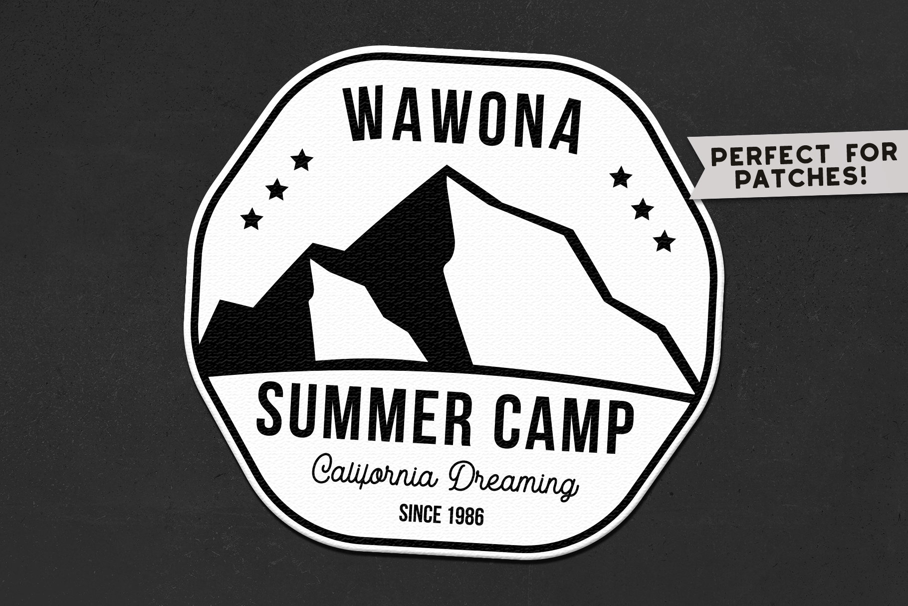 Summer Camp Logo Template, Retro California Badge SVG File example image 2