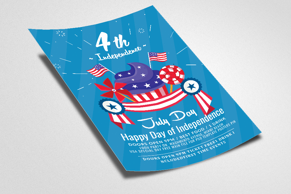 Happy Independence Day Flyer example image 2