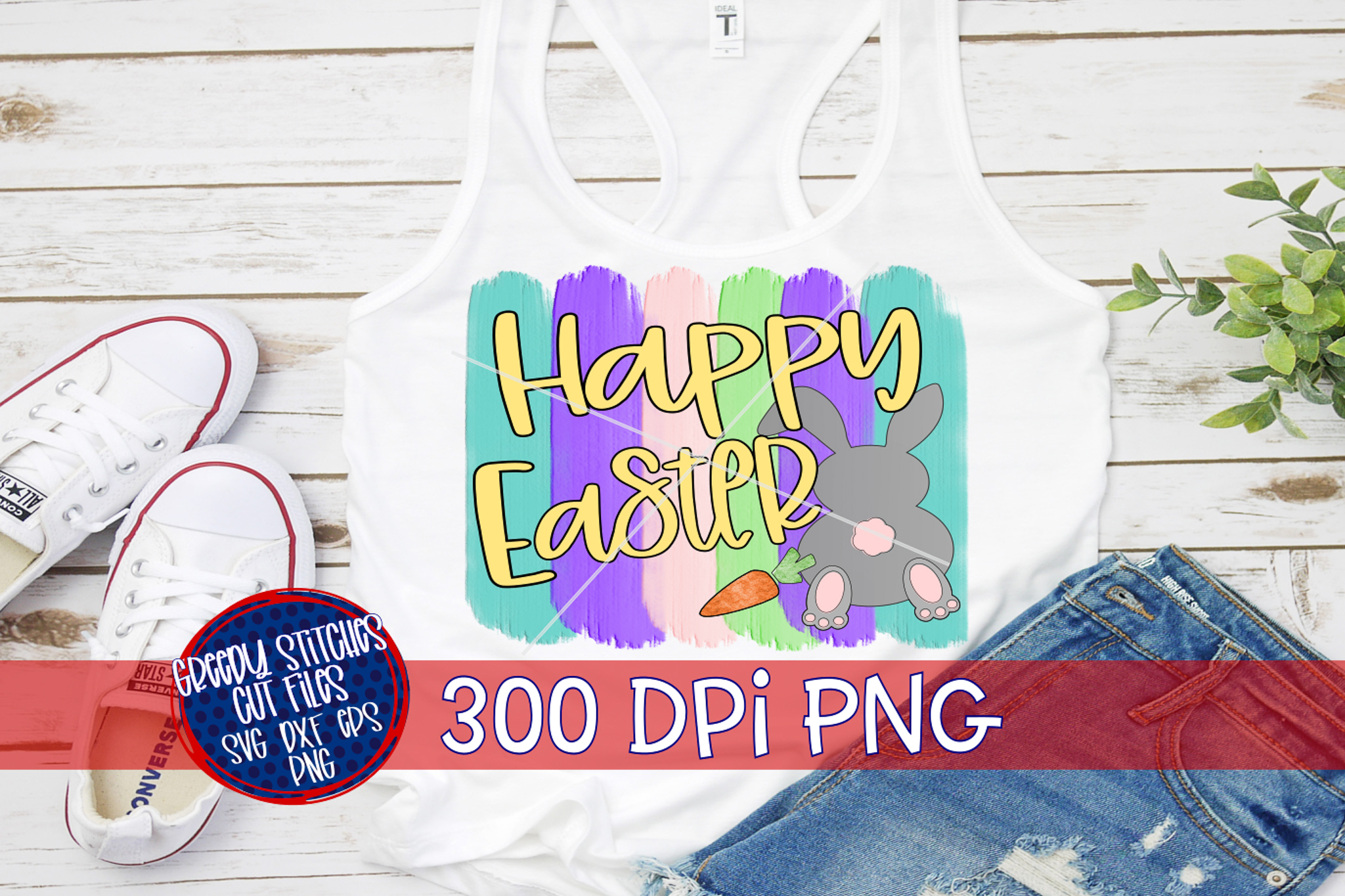 Easter PNG |Happy Easter Brush Strokes PNG For Sublimation example image 1