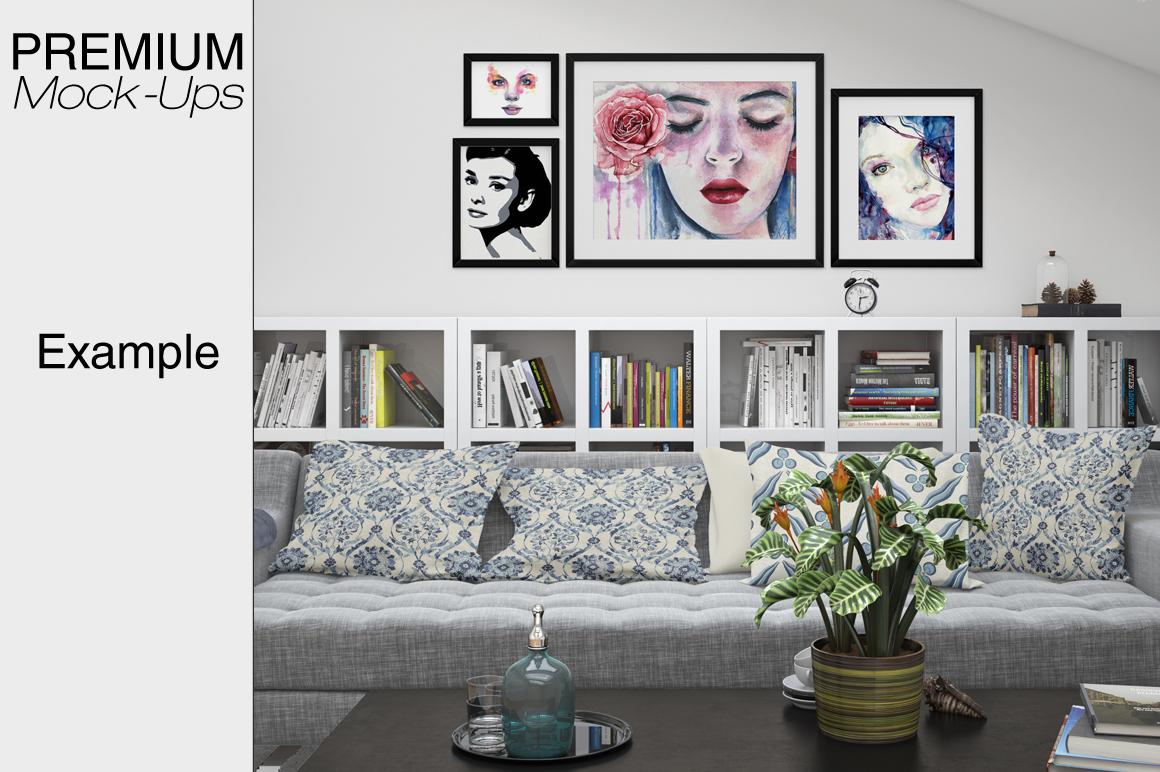 Pillows & Frames Set example image 3